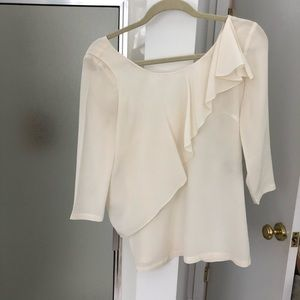See by Chloe white flutter blouse
